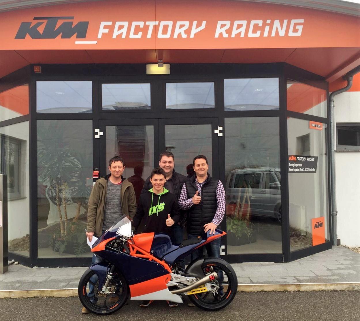 Max Kappler bei KTM in Mattighofen