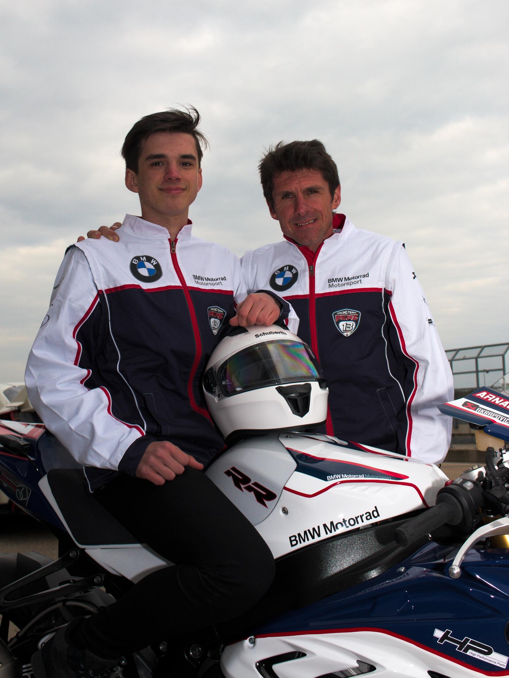 Arnaud Friedrich mit Vater und Manager André