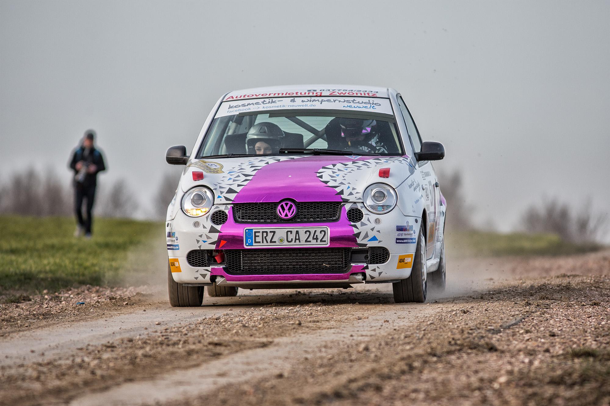 53. Rallye Erzgebirge Tina Wiegand Monique Voigt auf VW Lupo GTI Foto: Marko Unger