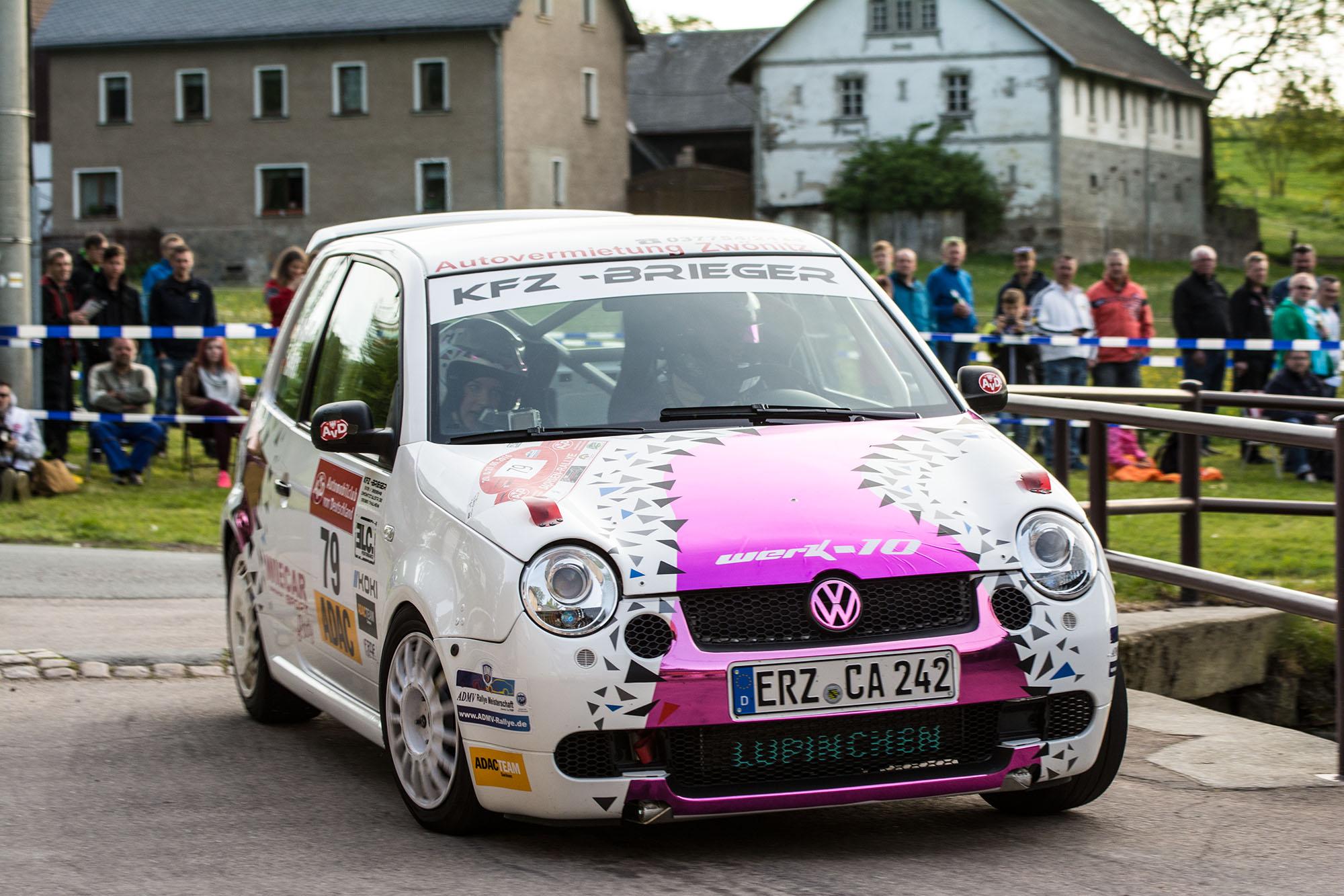 """AvD-Sachsen-Rallye 2016 Tina Wiegand und Monique Voigt auf """"Lupinchen"""""""