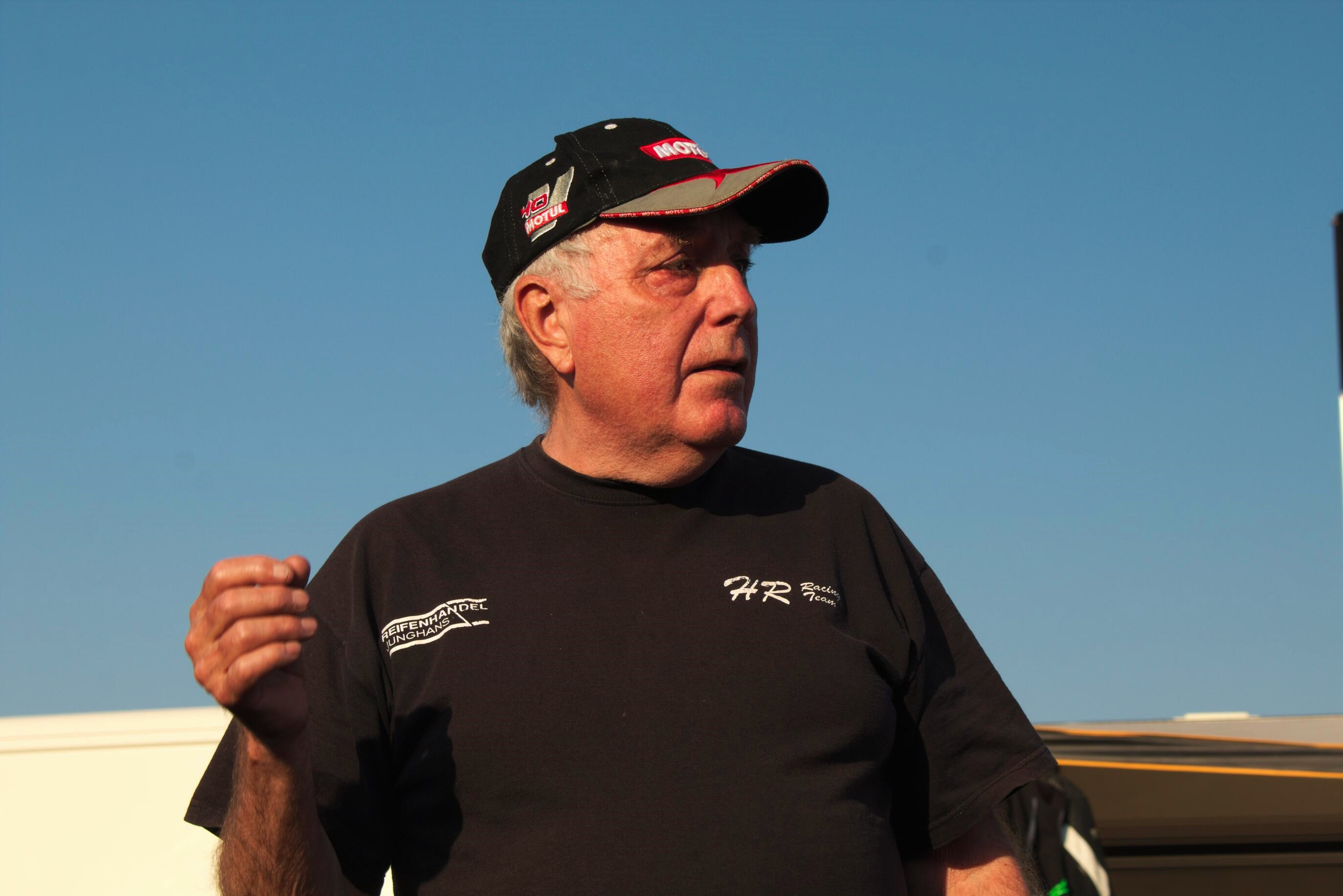 Harald Rippl, Gründer des HR Classic Cups bei den Rennen 3 und 4 iam Lausitzring 2016