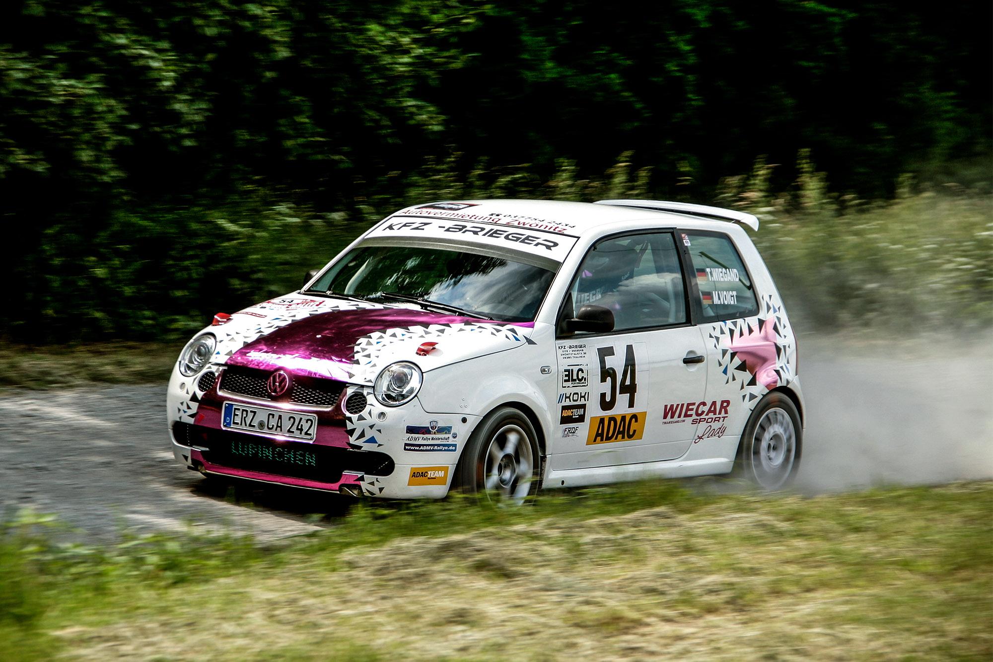 Tina Wiegand und Monique Voigt bei der Osterburg Rallye 2016
