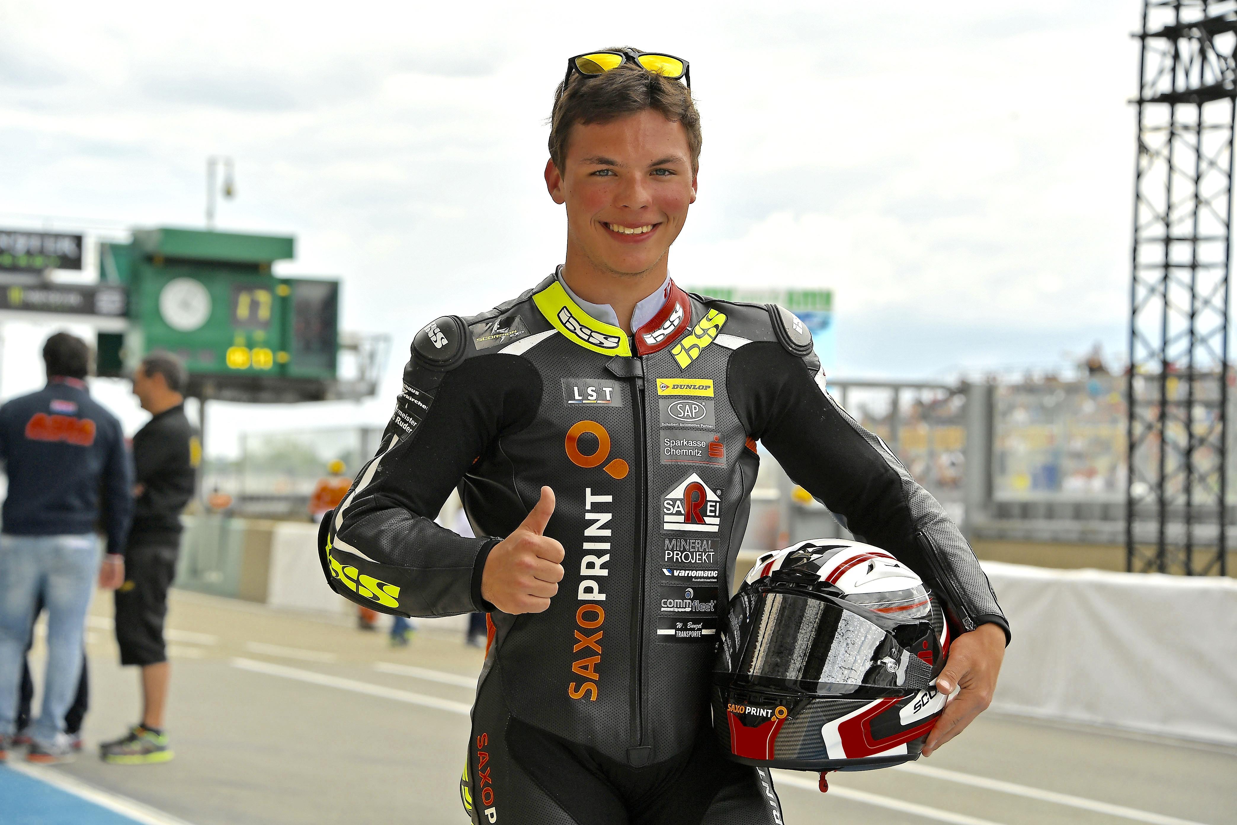 Max Kappler startet auch 2016 mit einer Wildcard am Sachsenring.