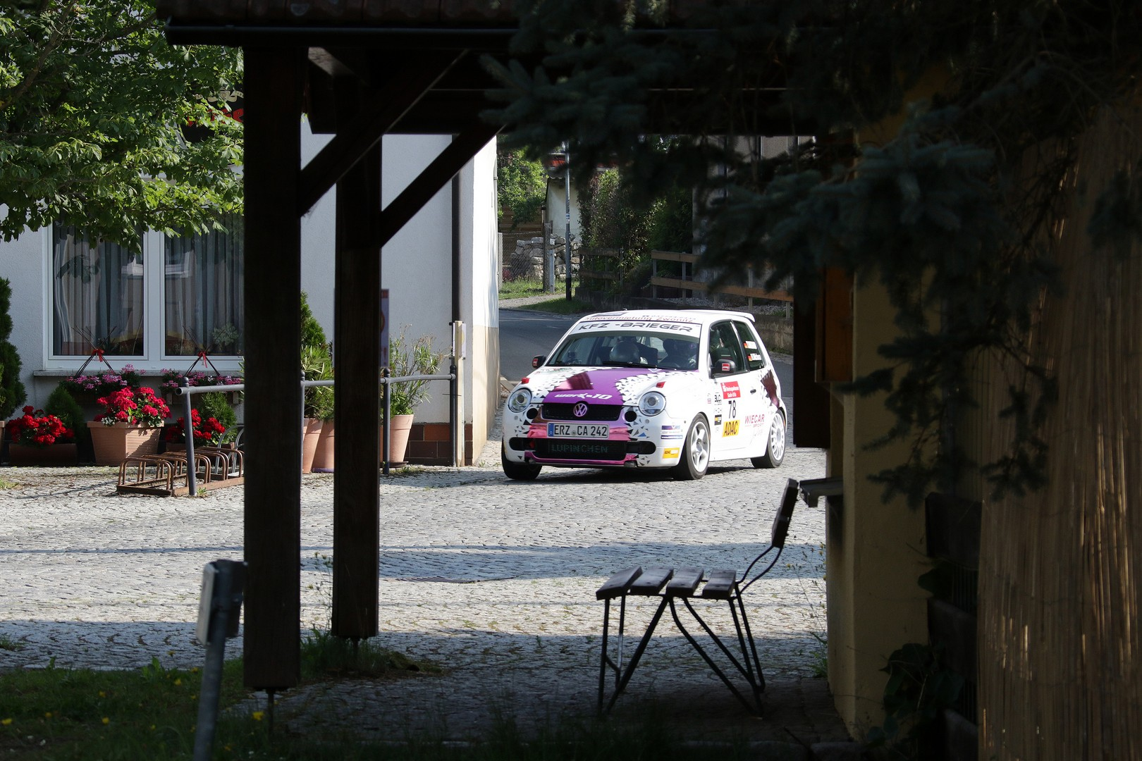 Tina Wiegand bei der Rallye Thüringen 2016