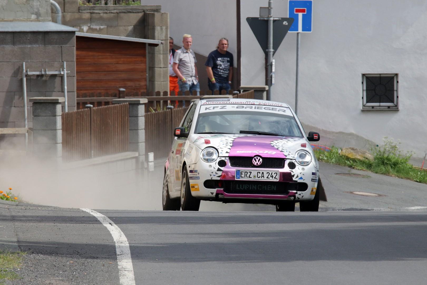 Tina Wiegand bei der Thüringen-Rallye 2016