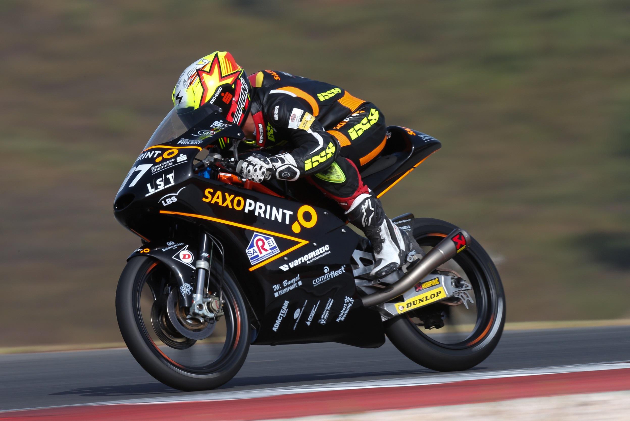 Max Kappler mit Punkterang in der Moto3 zur FIM CEV Repsol 2016 auf dem Circuito do Algarve