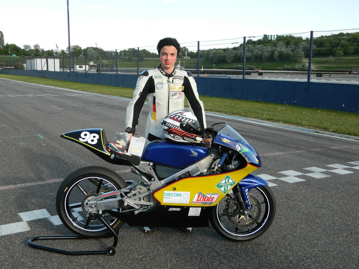 Adrian Hähle bei der DMV-Zweitakt-Trophy in Franciacorta 2017.