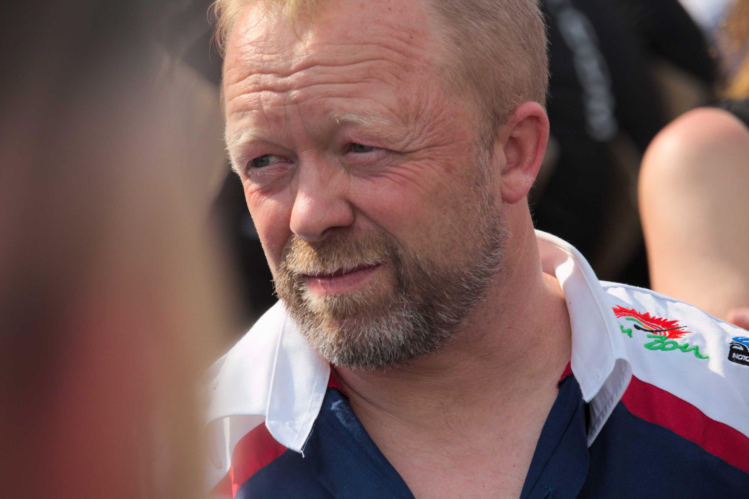 Werner Daemen (Van Zon-Remeha-BMW Superbike Team) am Lausitzring 2016.