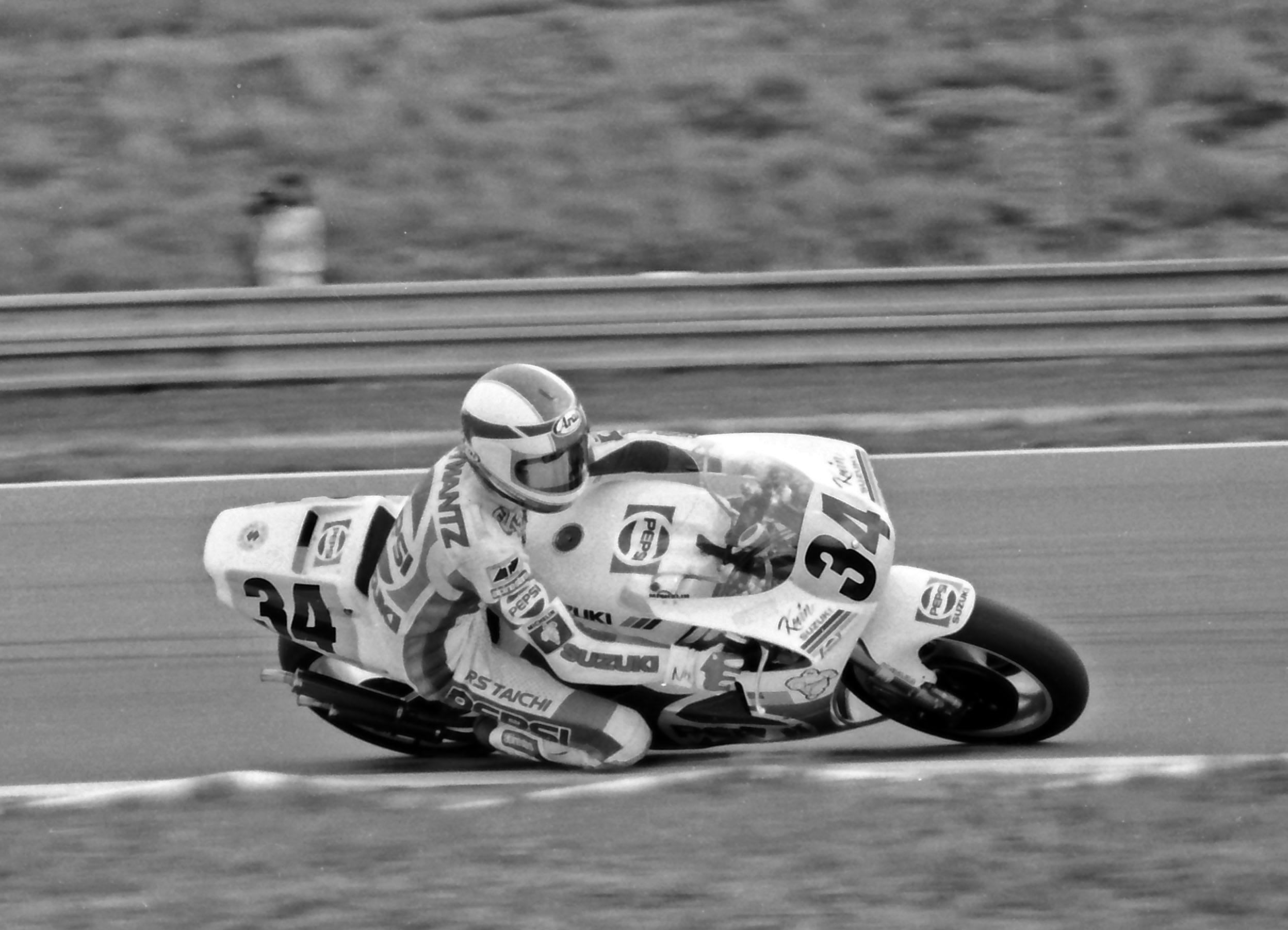 Kevin Schwantz beim Grand Prix 1989 in Brünn