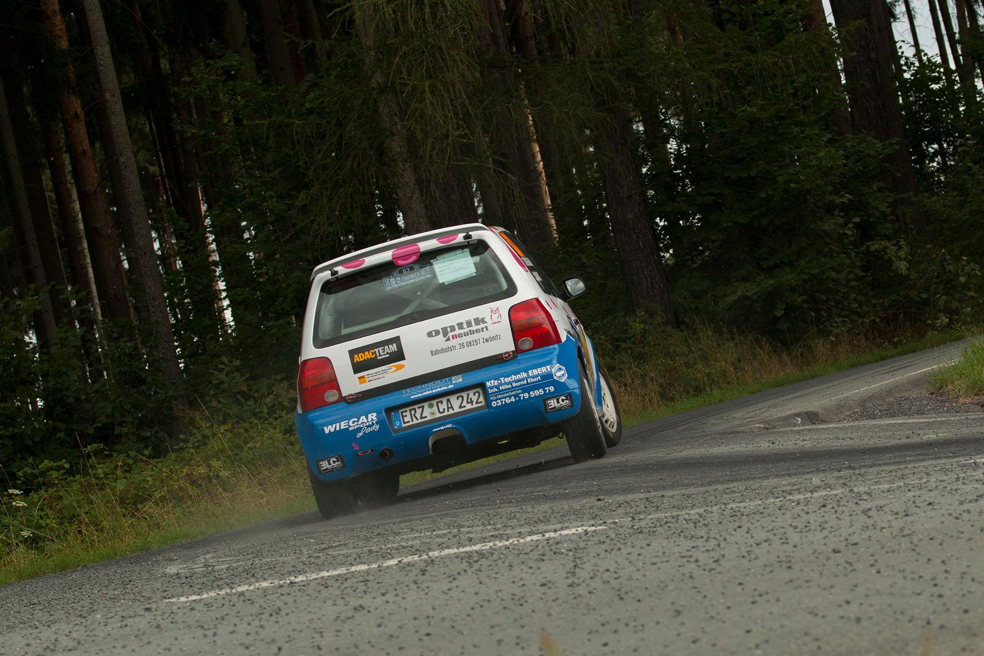 Tina Wiegand bei der Rallye Grünhain 2017