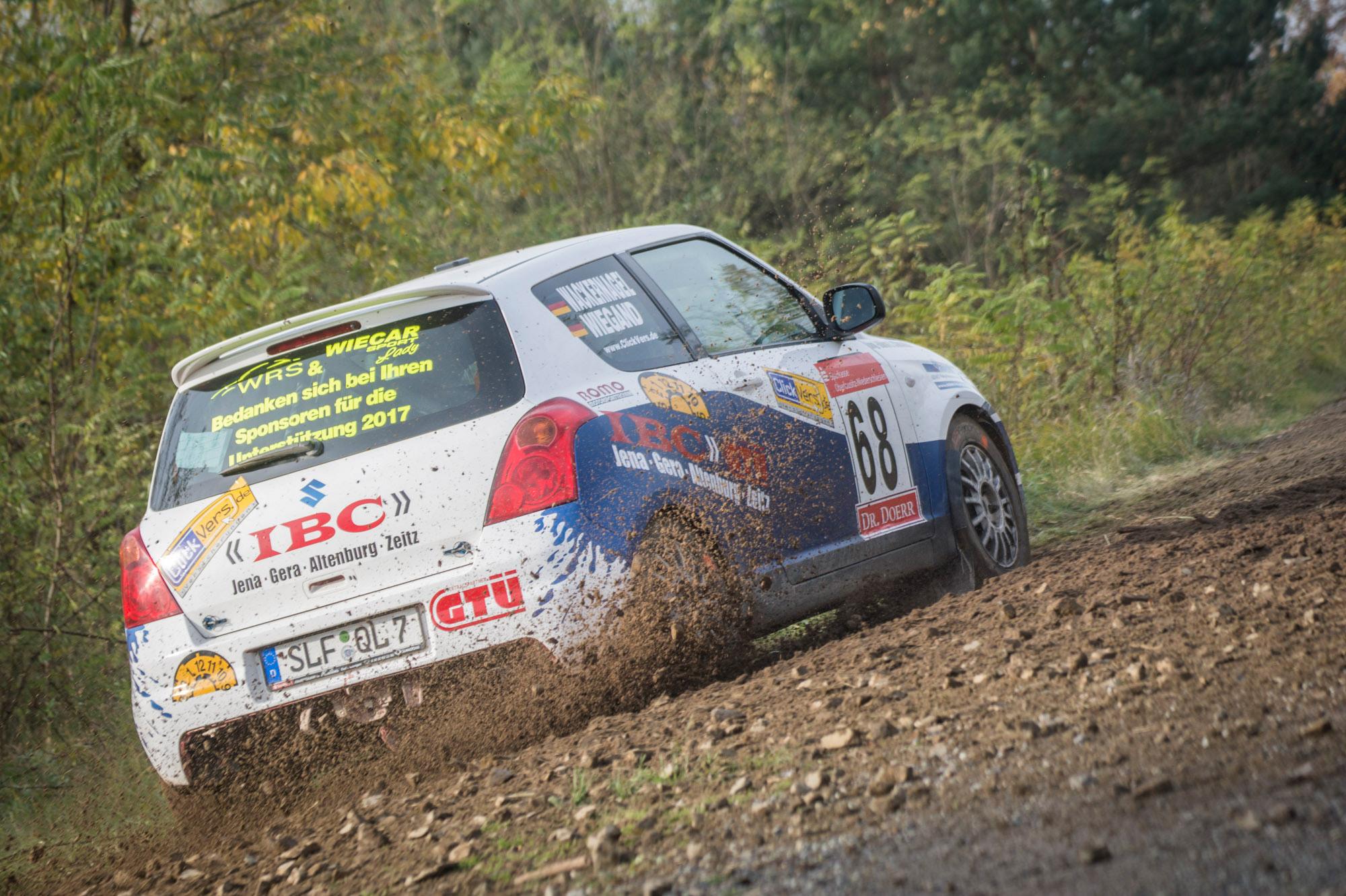 Tina Wiegand bei der Lausitz Rallye