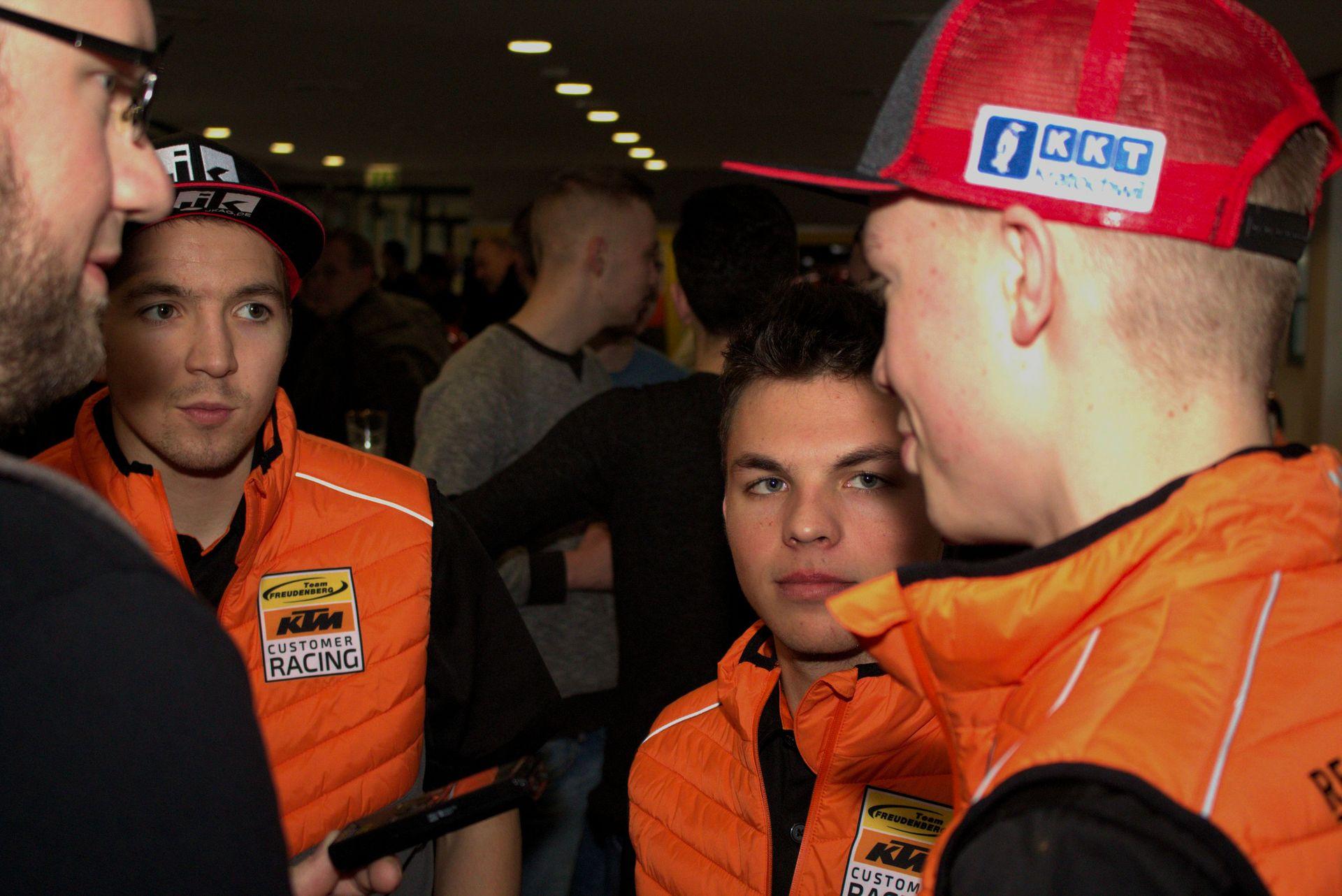Luca Grünwald, Max Kappler, Jan-Ole Jähnig - Freudenberg KTM World SSP Team auf der Sachsenkrad 2018