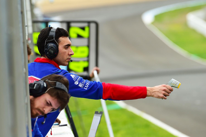 PrüstelGP Technischer Leiter Florian Chiffoleau 2018 beim IRTA-Test in Jerez