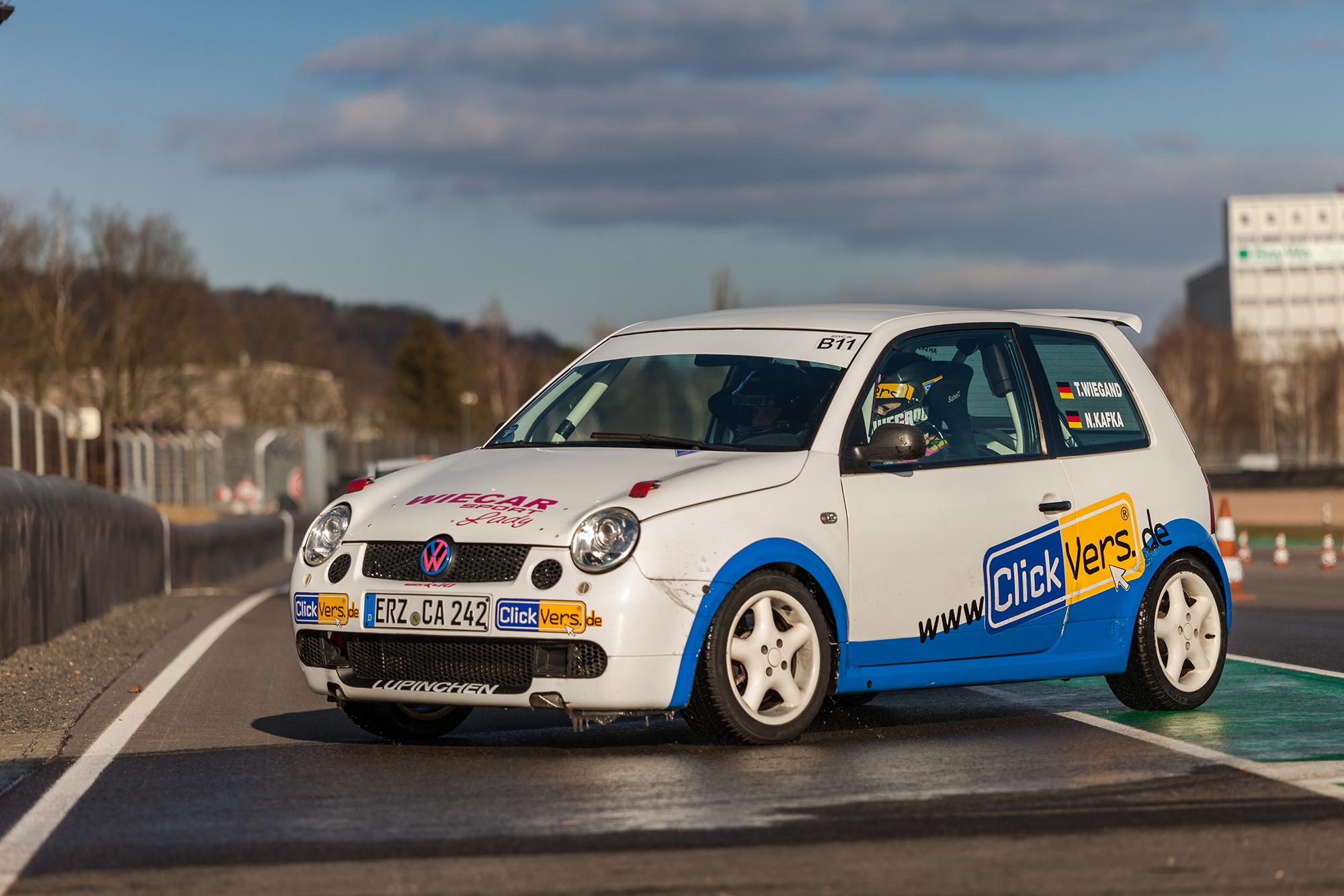 Der VW Lupo GTI von Tina Wiegand bei der Rallyeshow am Sachsenring 2018