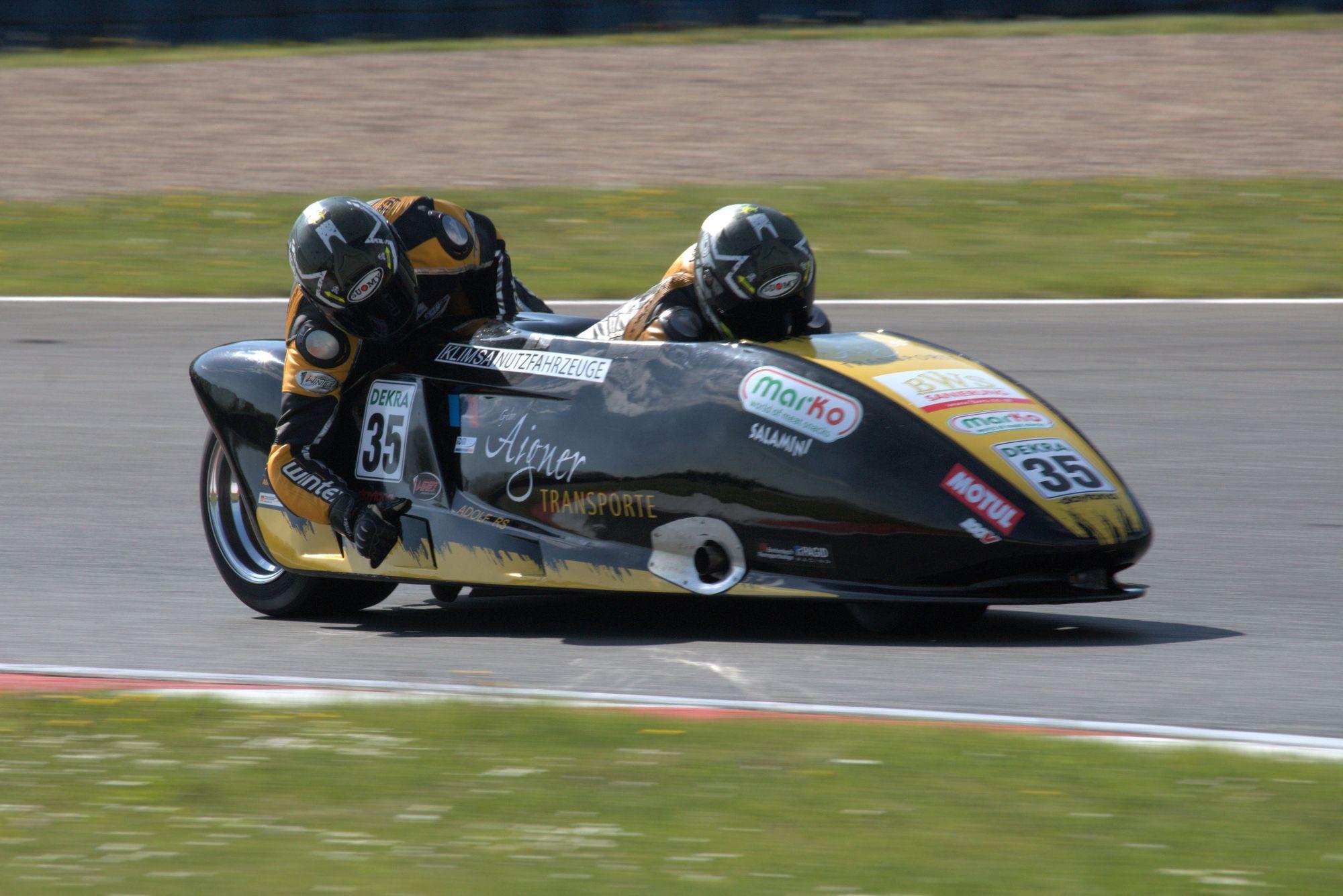 Josef Sattler und Uwe Neubert - Team Sattler Motorsport - IDM Sidecar 2018 Motorsportarena Oschersleben