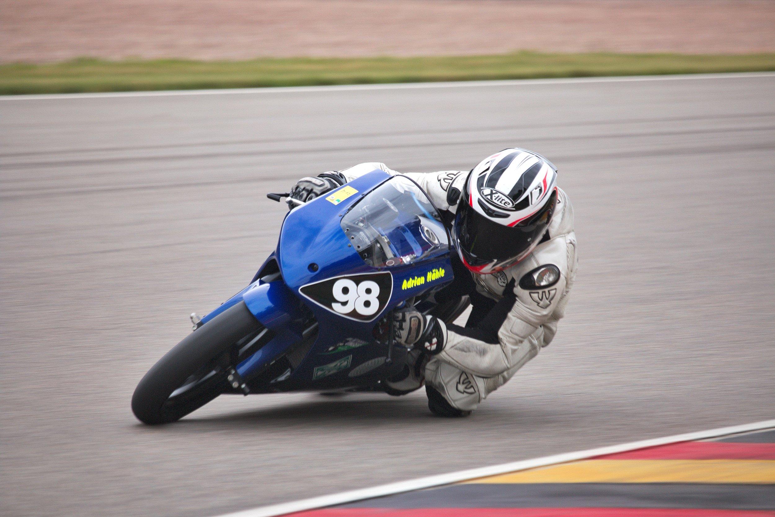 Adrian Hähle bei der DMV-Zweitakt-Trophy zur Sachsenring Classic 2018