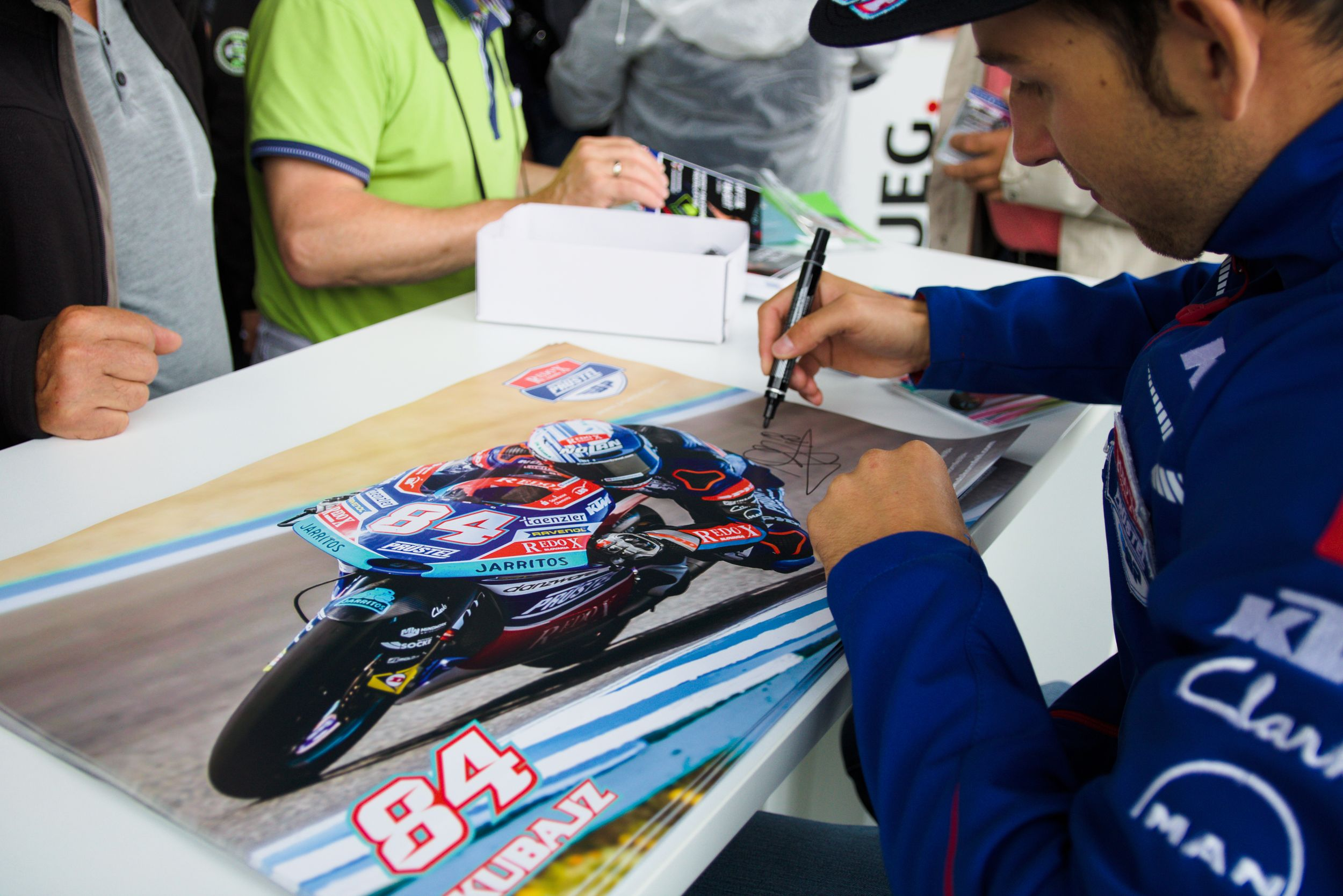 Jakub Kornfeil - PrüstelGP Autogrammstunde am Sachsenring 2018
