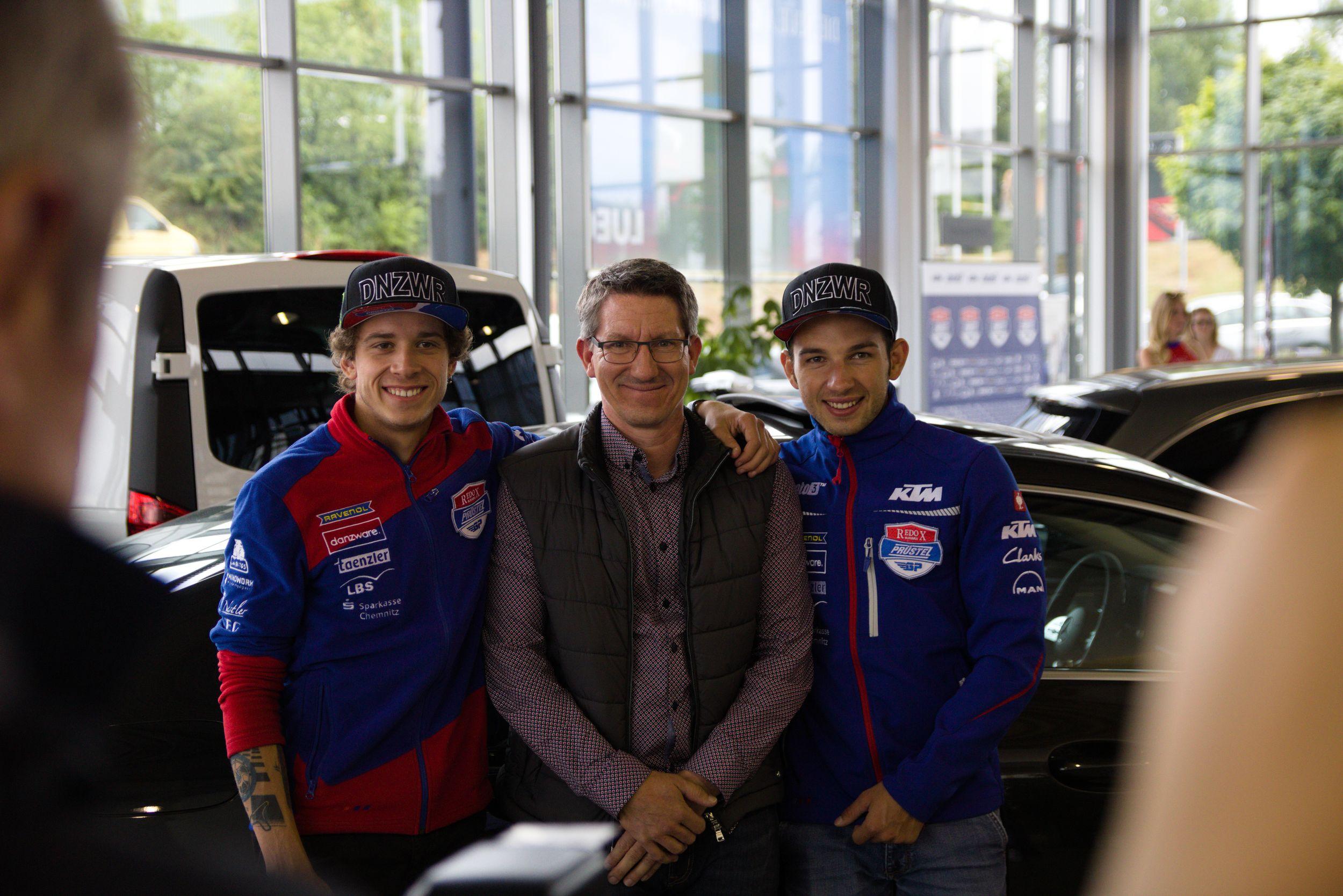 Marco Bezzecchi und Jakub Kornfeil - PrüstelGP Autogrammstunde am Sachsenring 2018